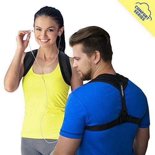 Posture Corrector Comfort by Heeper - Back Posture Brace - Bad Posture Corrector for Women Men - Adjustable Clavicle Brace - Posture Support - Kyphosis Brace - Upper Back Brace - Shoulder Support