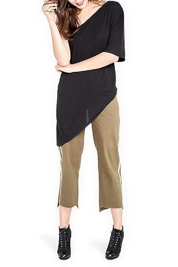 8827c30ba2e22 Image Unavailable. Image not available for. Color  RACHEL Rachel Roy Womens  Asymmetrical One-Shoulder Knit Top Black L
