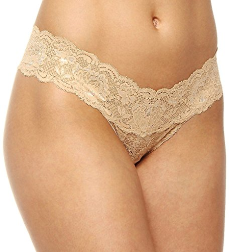 Cosabella Women's Never Say Never Cutie Lowrider Thong, Nude, One Size