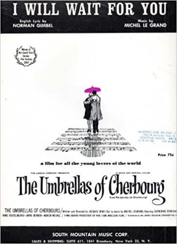 The Umbrellas Of Cherbourg Vocal Selections Music Score For Voice