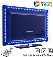 LED TV Hintergrundbeleuchtung OMERIL 2.2M USB LED Strip RGB LED Fernseher Beleuchtung mit 24-Key Fernbedienung,...