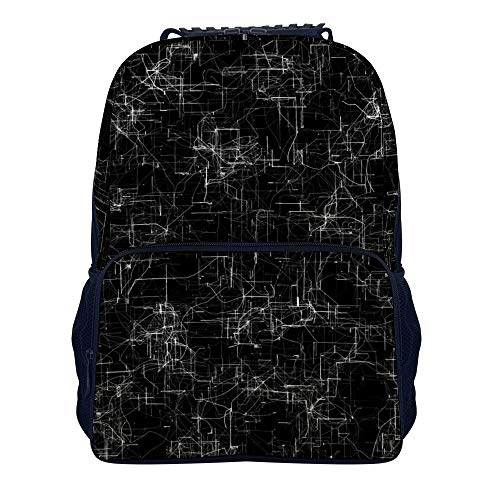 Distorted Data Science Shoulders Backpack Durable Two Mesh Side Pockets School Backpack For Adults And Children