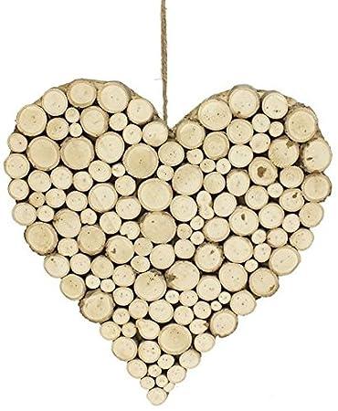 Wooden Heart Wall Decor  Large Rustic Cut Branch Heart Shaped Wall Art /Decor  sc 1 st  Amazon.com & Amazon.com: Wooden Heart Wall Decor : Large Rustic Cut Branch Heart ...