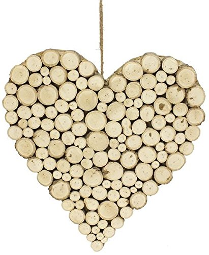 Wooden Heart Wall Decor Large Rustic Cut Branch Heart Shaped Wall
