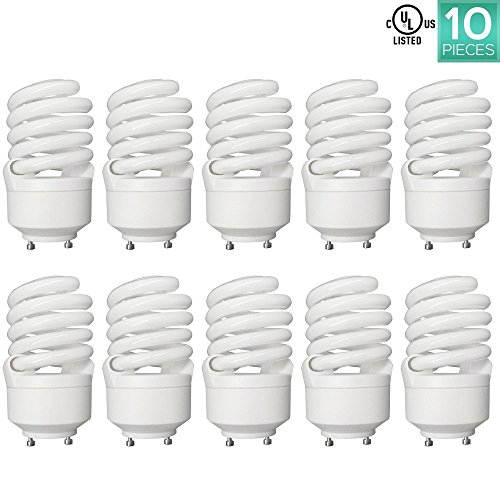 Linear Clear Incandescent Light Bulb (Luxrite LR22320 (10-Pack) CF23 23-Watt CFL T2 Spiral Bulb, Equivalent To 100W Incandescent, Warm Light 2700K, 1600 Lumens, GU24 Bi-Pin Base)
