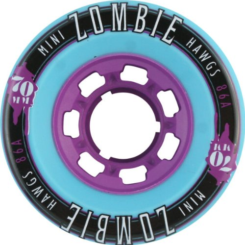 オーナー意識的リストHawgs Wheels Mini Zombie Teal Skateboard Wheels - 70mm 86a (Set of 4) by Hawgs Wheels