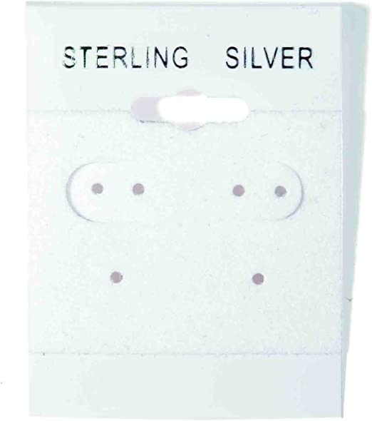 """Gray Flocked Hanging Earring Cards 1 1//2/"""" x 1 1//2/"""" Jewelry Presentation 300"""