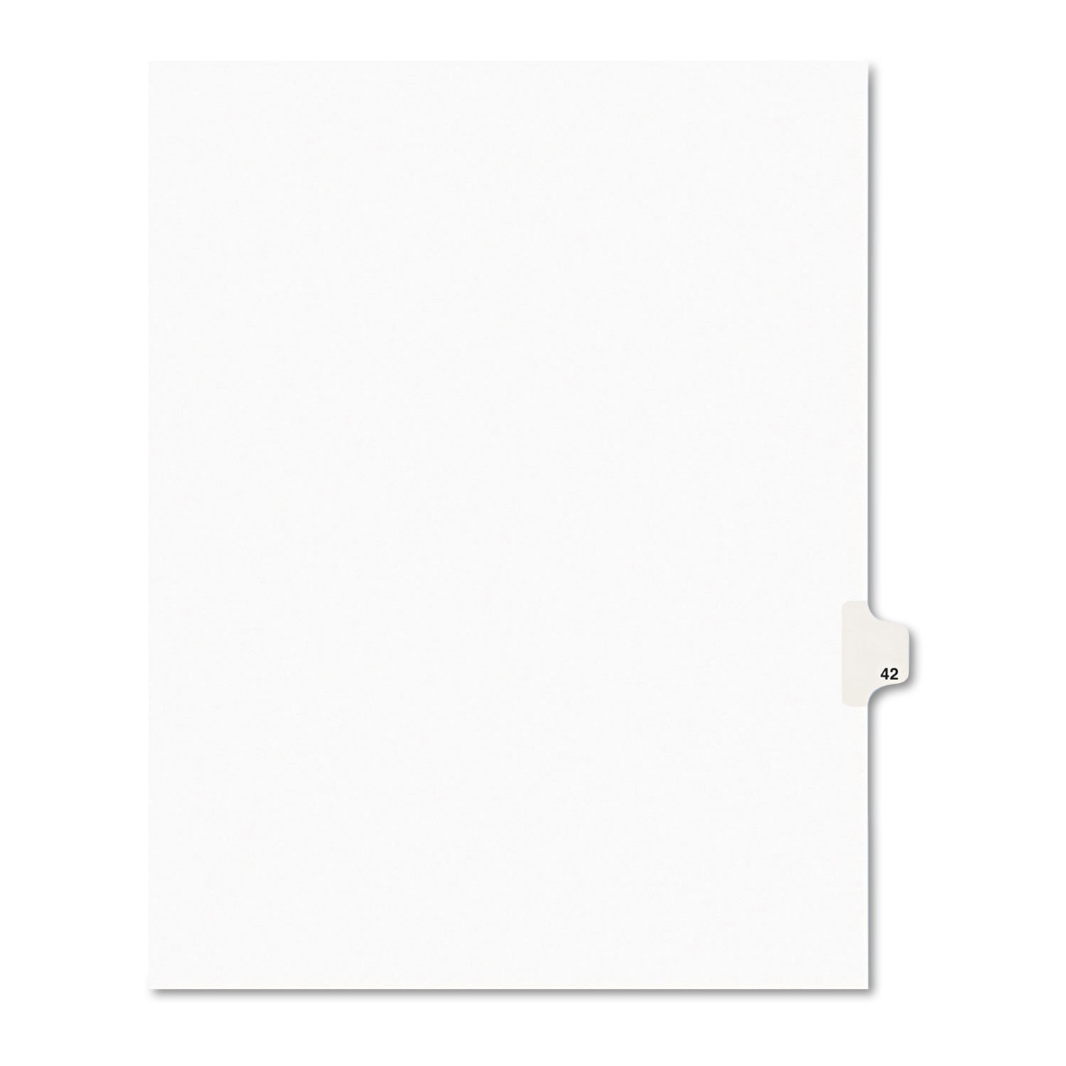 Avery 01042 Legal Exhibit Side Tab Divider, Title: 42, Letter Size, White 25/PK by Avery (Image #1)