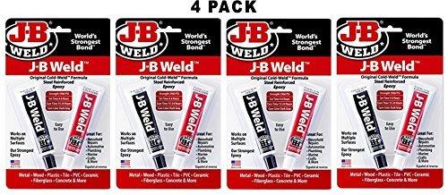 J-B Weld 8265S Original Steel Reinforced Epoxy Twin Pack - 2 oz (Pack of 4)