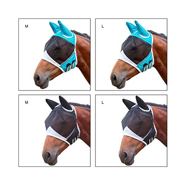 Jackallo Maschere per Cavalli Maschera Traspirante per Cavalli Maschera per Cavalli Antizanzara Maschera Traslucida con… 4 spesavip