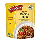 Tasty Bite Indian Entree Madras Lentils 10 Ounce (Pack of 6), Fully Cooked Indian Entrée with Lentils Red Beans & Spices in a Creamy Tomato Sauce, Microwaveable, Ready to Eat (Limited Edition)