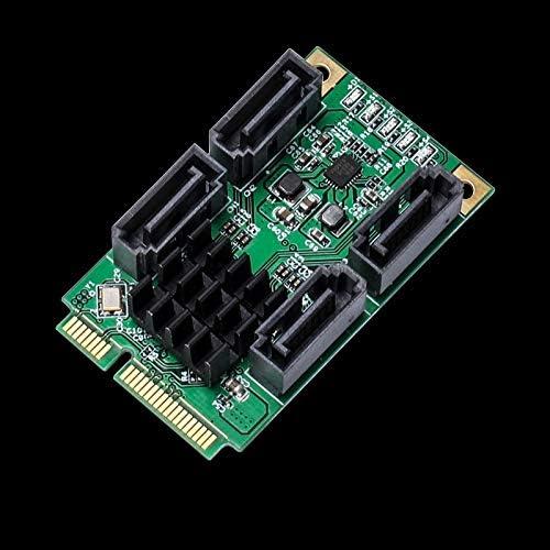 SHENGMASI 4 Port SATA III 6G Mini PCI Express Marvel 88SE9215 Controller Card Hot Plug and Hot Swap
