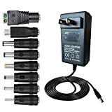 BestPlayer 36W 2V-24V 1.5A Universal AC/DC Adapter Switching Power Supply with 8 Selectable Adapter Tips & Micro USB Plug, for 2V to 12V Household Electronics and LED Strip – 1.5A Max