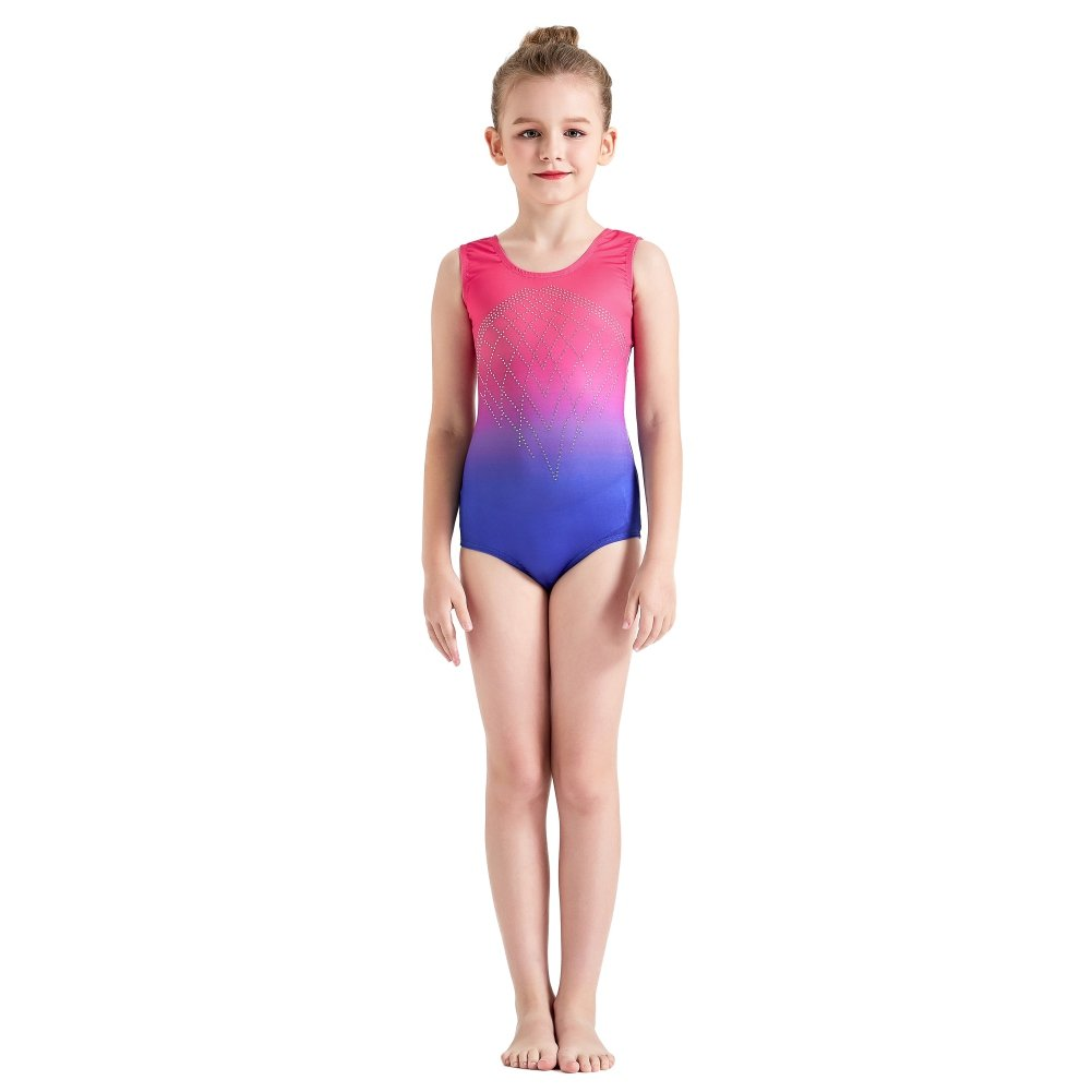 0e16009b8 Amazon.com: Wingbind Colorful Girls Gymnastic Leotards Ballet Dance Dress  Sleevesless Crew Neck Gradient Diamond Shinny 5-14 Years Old: Sports &  Outdoors