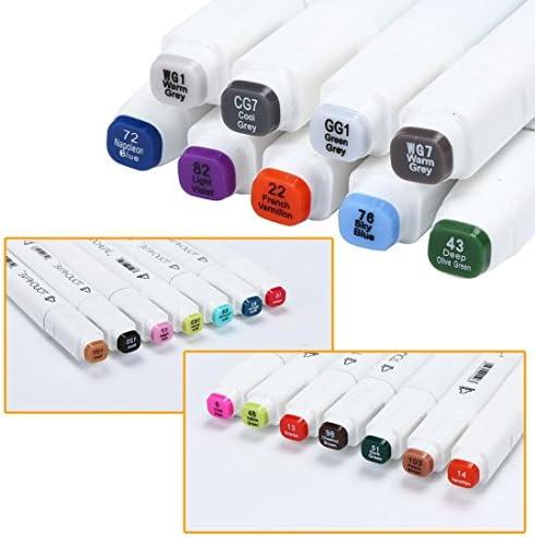 Huphoon Rotuladores de doble punta, 30 colores, marcadores ...