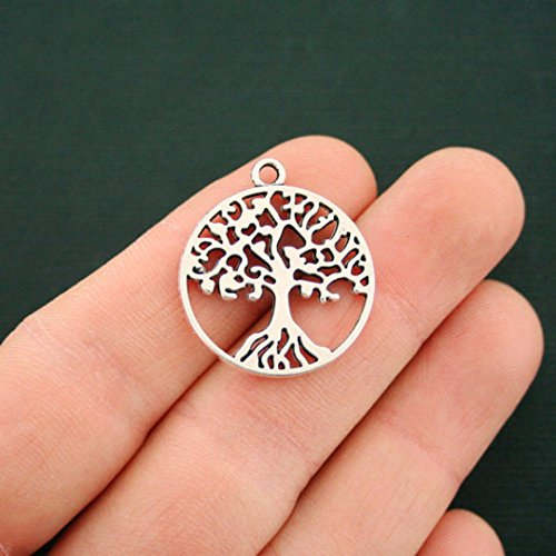10pcs Tree of Life Charms Silver Tree Antique Silver 25mm (NS708) Antique Silver Tree Pendant