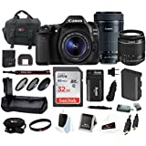 Canon EOS 80D DSLR Camera with 18-55mm & 55-250mm Lenses & 32GB Deluxe Bundle