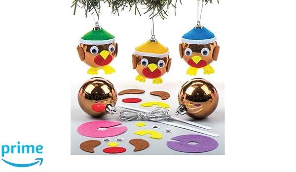 Baker Ross Kits de Bolas de Navidad con Forma de petirrojo (Paquete ...
