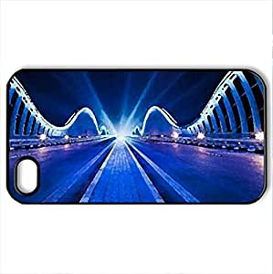 Architectural-Photography - Case Cover for iPhone 4 and 4s (Bridges Series, Watercolor style, Black)