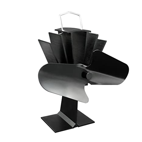 maistore funcionamiento silencioso 2-Blade Ventilador para estufa quemador de madera/LOG/madera
