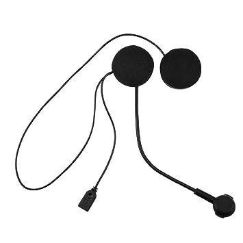 Auriculares Intercomunicador Bluetooth para Casco de Motocicleta Moto Intercom Headset, Auriculares Estéreos Inalámbricos La Motocicleta Bluetooth Headset ...