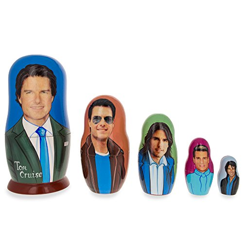 set-of-5-tom-cruise-wooden-russian-nesting-dolls