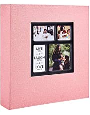 Ywlake Photo Album Pockets Photos Linen Cover, Extra Large Capacity Family Wedding Picture Albums Holds Horizontal and Vertical Photos