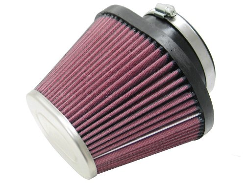 K&N RC-5129 Universal Clamp-On Air Filter: Oval Tapered; 3.938 in (100 mm) Flange ID; 5 in (127 mm) Height; 7.125 in x 5.313 in (181 mm x 135 mm) Base; 4.5 in x 3.25 in (114 mm x 83 mm) Top