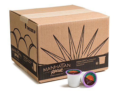 Manhattan Roast 'Liberty Brew' (House Blend / Medium Roast) Single-Serve Coffee Freshcup works in most Keurig K-Cup Brewers, 90 Count Box