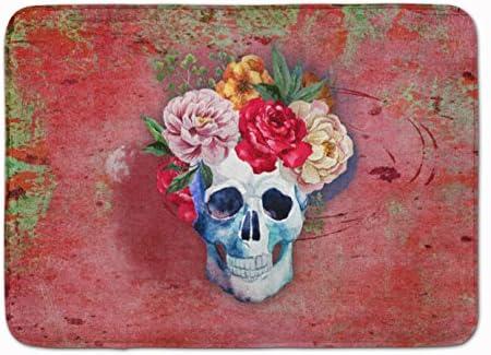 Carolines Treasures Day of The Dead Machine Washable Memory Foam Mat Multicolor