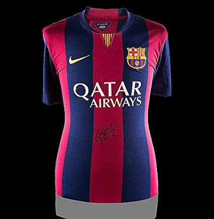 a5247420619 Image Unavailable. Image not available for. Color: Luis Suarez Front Autographed  Signed Barcelona 2014-15 Home Shirt ...