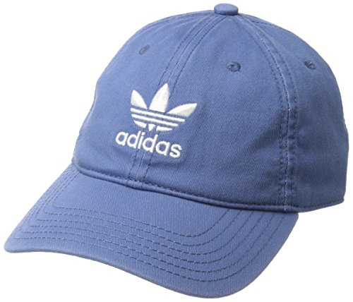 adidas Men's Originals Relaxed Strapback Cap, Trace Royal Blue/White, One ()