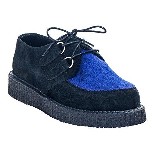Boots & Braces Creeper New Fur - Diverse Farben in 37-42 Schwarz/Blau