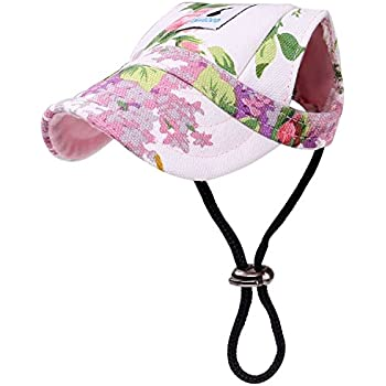 Amazon.com   Cade Flower Pattern Nylon Baseball Cap Dogs Hat Visor ... 1535ec646cfa