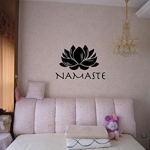 Namaste etiqueta de la etiqueta engomada de la pared Lotus Yoga ...