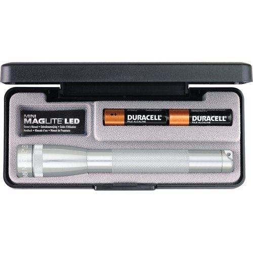 Maglite Mini LED 2-Cell AA Flashlight in Presentation Box, Silver (Maglite Gift Mini Aa)