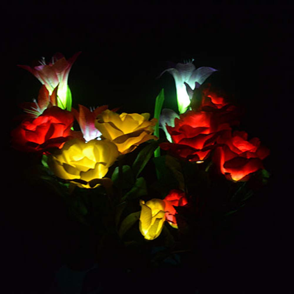 Amazon.com: Luces solares al aire libre - Rosa elegante ...