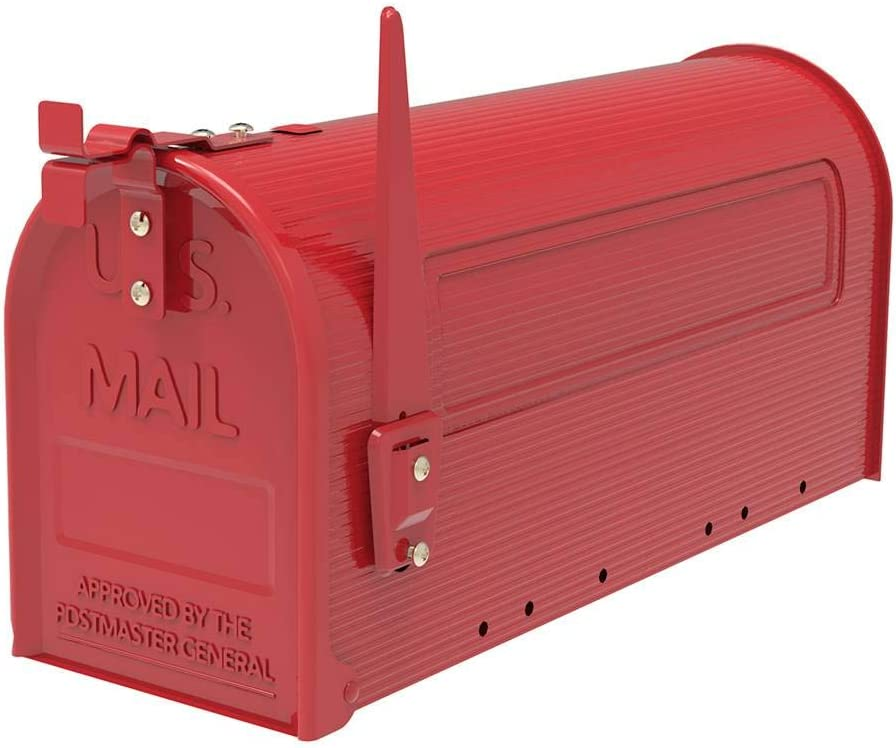 1024 Byte Shop Durable Iron Mailbox Red