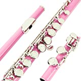 Glory Closed Hole C Flute With Case, Tuning Rod and Cloth,Joint Grease and Gloves Light pink -More Colors available,Click to see more colors