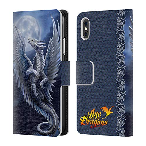 - Official Anne Stokes Silver Age of Dragons Leather Book Wallet Case Cover for iPhone X/iPhone Xs