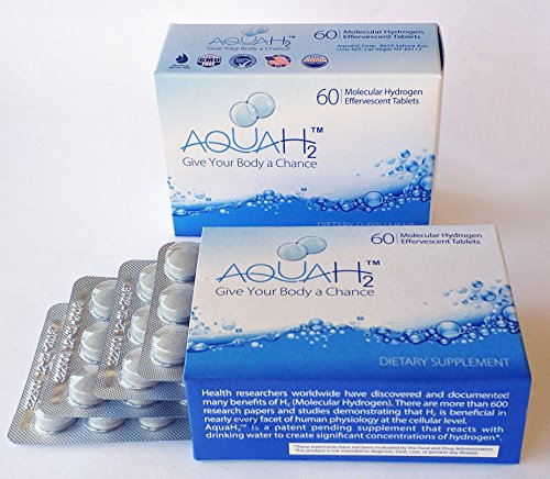 (Molecular Hydrogen Tablets | 60 Hydrogen Water Tablets by Aquah2)