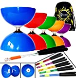 Big Top - Jumbo Ball Bearing Diabolo Set + Ali Dream Metal Diablo Handsticks, Diabolo String + Travel Bag! (Purple Diablo/Silver Sticks) by Juggle Dream