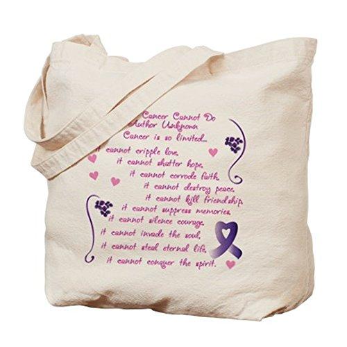CafePress cáncer de–lo que no puede hacer...–Gamuza de bolsa de lona bolsa, bolsa de la compra