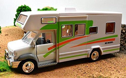 Caravan 1:28 DIY RV acousto-Optic Children Toy Recreational Vehicle Caravan with Sound&Light Pull Back Touring car Models Light Green (Caravan Touring)