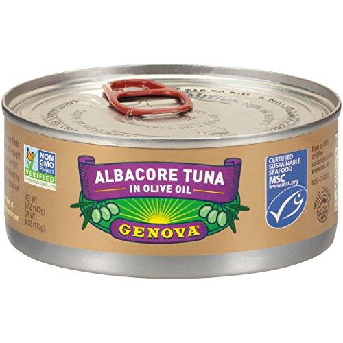 Genova Solid Albacore Tuna In Olive Oil 5 oz., 12 per case (Genova Tuna)