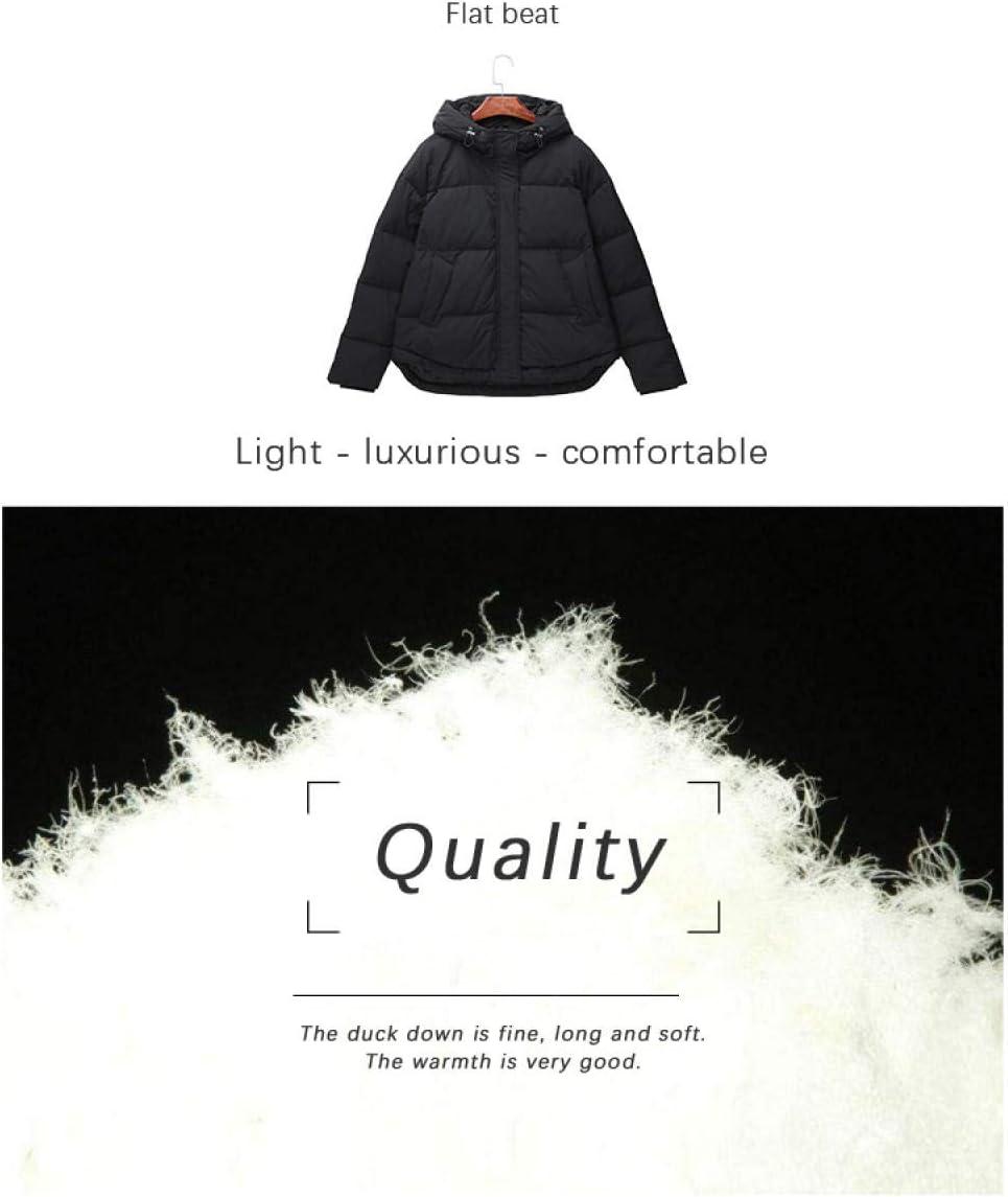 Fantasysmoke Jeans Hooded Down Jacket Blouson Femme Noir-M
