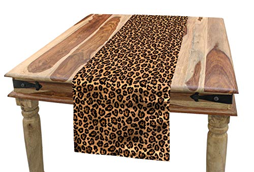 Ambesonne Leopard Print Table Runner, Leopard Texture Illustration