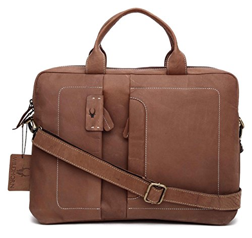 WildHorn Urban Edge 100% Genuine Hunter Leather Laptop Messenger Bag