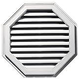 Builders Edge 120013232117 32'' Octagon Vent 117, Bright White