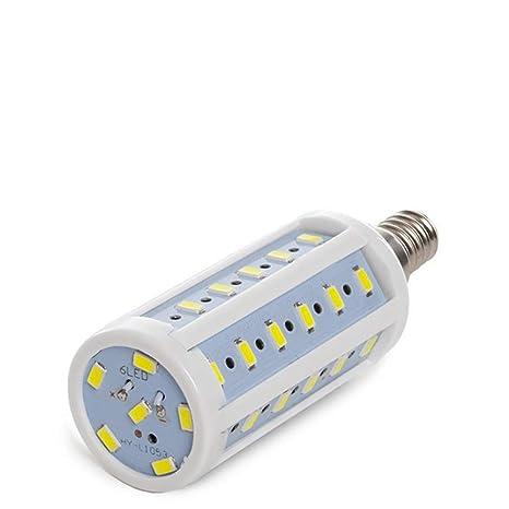 Greenice | Bombilla E14 42 LEDs 5730SMD 10W 980Lm 30.000H | Blanco Cálido